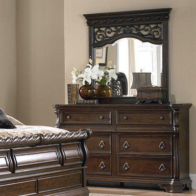 Astoria Grand Kate 6 Drawer Double Dresser With Mirror Wayfair Liberty Furniture Furniture Dresser With Mirror