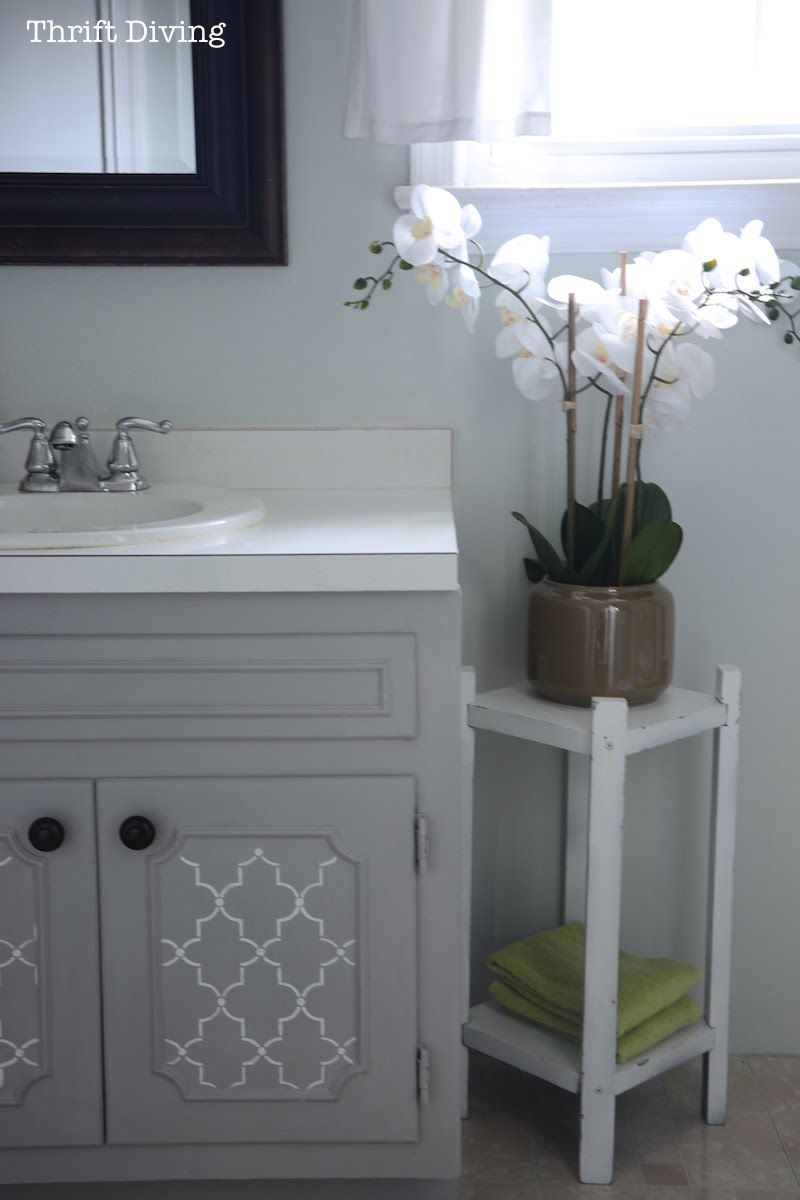 how to paint a bathroom vanity diy makeover thrift diving blog rh pinterest com