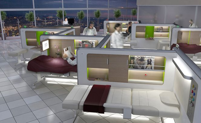 Designing A Better Hospital Recovery Room Inspired By First Class Plane Seats