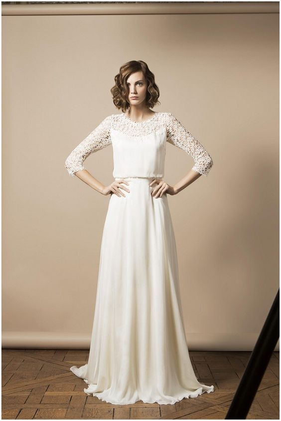 French Wedding Dress Designer Delphine Manivet 2014 Collection French Wedding Dresses Wedding Dresses Wedding Dresses Unique Long Sleeve Wedding Dress Lace