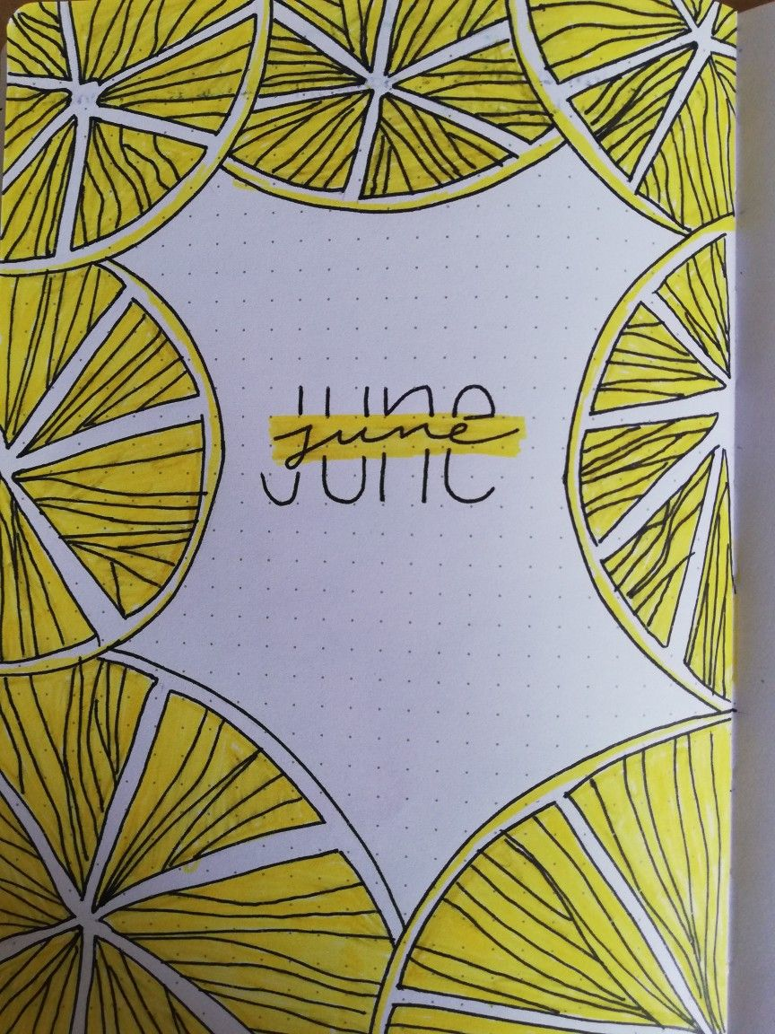 bullet journal June