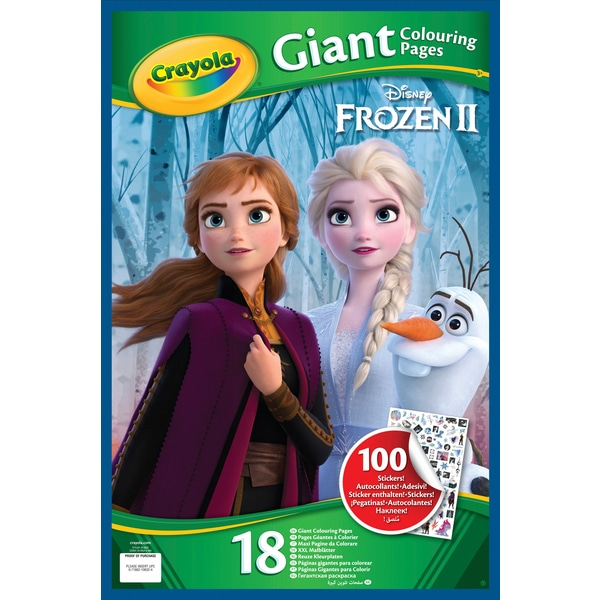 Crayola Disney Frozen 2 Giant Colouring Pages With Stickers Crayola Disney Frozen Disney Frozen 2
