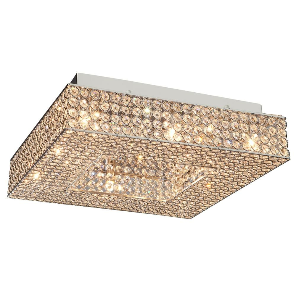Bella Vista Stainless Steel Flush Mount : AC10345 | Living Lighting Home Office