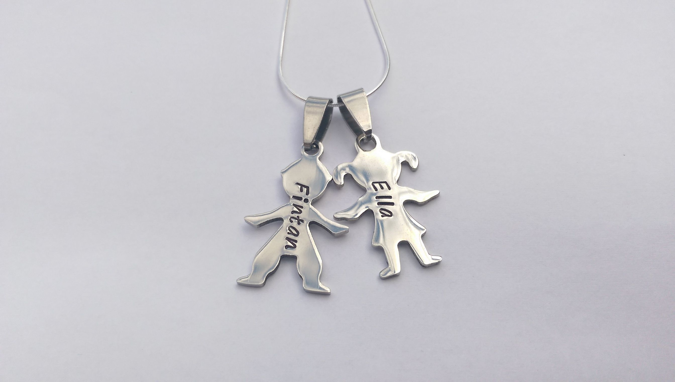 stamped craft silhouette personalised girl boy hand the figure pin supermums fair necklace name