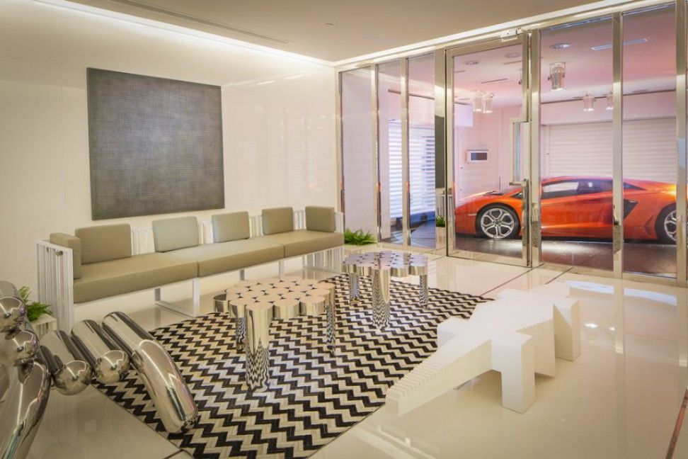 Stylish home luxury garage designs photos and ideas for Luxury garage interiors