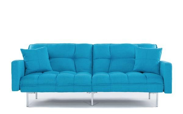 Nemo Cheery Modern Soft Linen Sleeper Futon Sofa Futon Sofa L Shaped Couch Sleeper Sofa