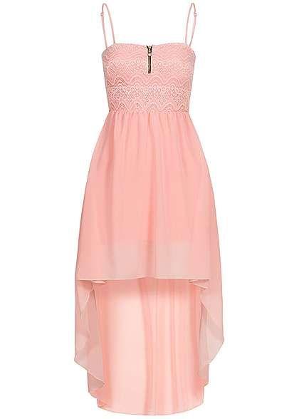 Styleboom Fashion Damen Vokuhila Kleid Zipper vorne Spitze Brustpads ...