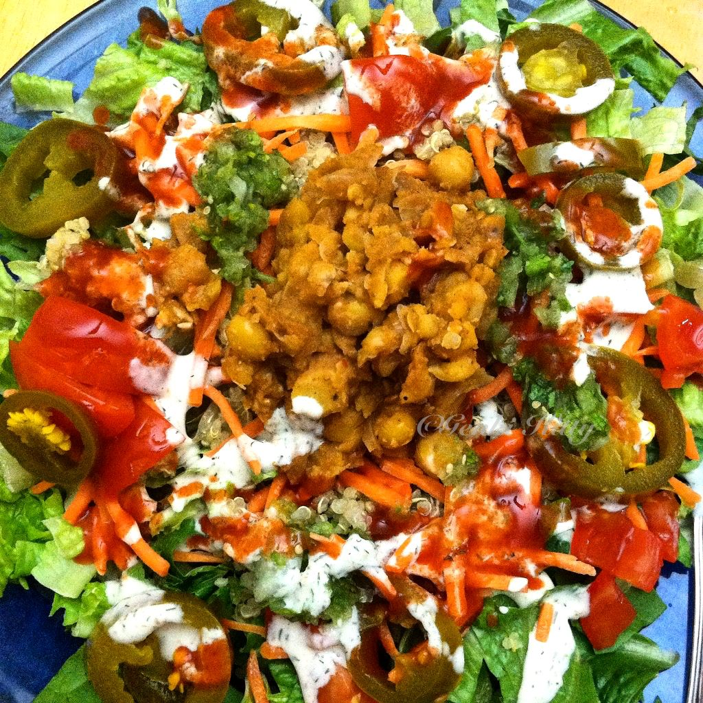 Spicy Chickpea Salad Vegan Recipe
