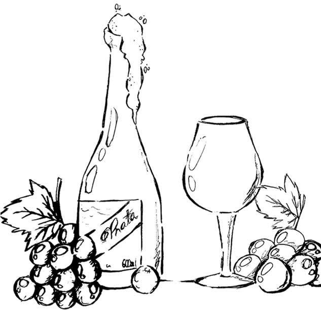 Wine Bottle Glass Wine Wall Art Wine Theme Digi Stamps