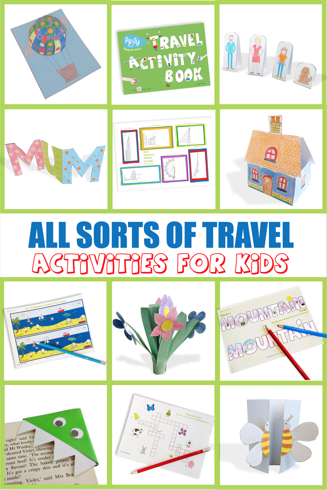 Travel Activity Book   Pipity Website in 20   Kid travel kit ...