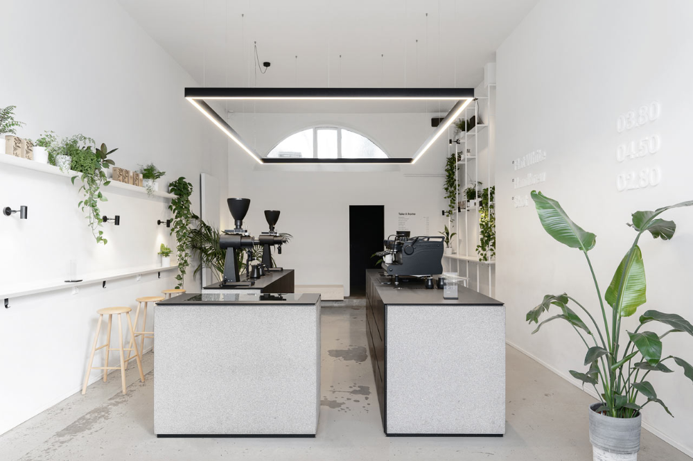 Aeny Designs A Minimalist Coffee Shop For Scandinavian Brand Tornqvist Cafe Interior Design Cafe Interior Coffee Shops Interior