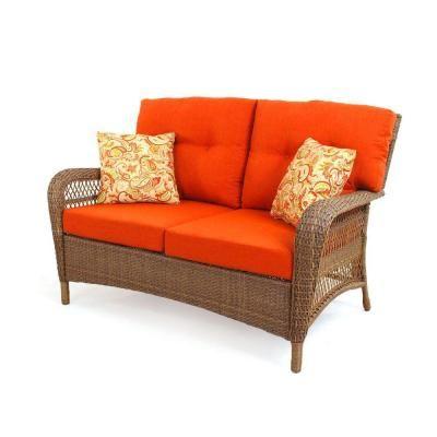 Martha Stewart Living Wicker Settee! #spring #homedepot ... on Martha Stewart Living Charlottetown id=38582