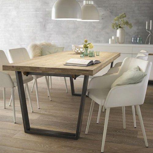 gro er esstisch calia aus massivholz eiche geseift und geb rstet k che haushalt. Black Bedroom Furniture Sets. Home Design Ideas