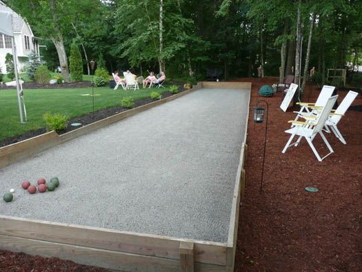Bocce Court Solution For The Base Of Steep Hill In Our Back Yard