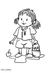 Bambina Disegno Da Colorare.Disegni Di Bambine E Ragazze Da Stampare E Colorare Portale