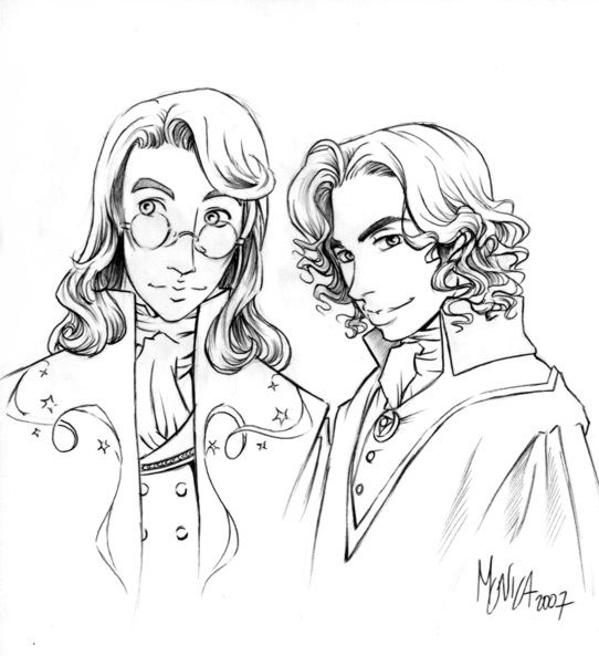 Albus & Grindelwald by Monica