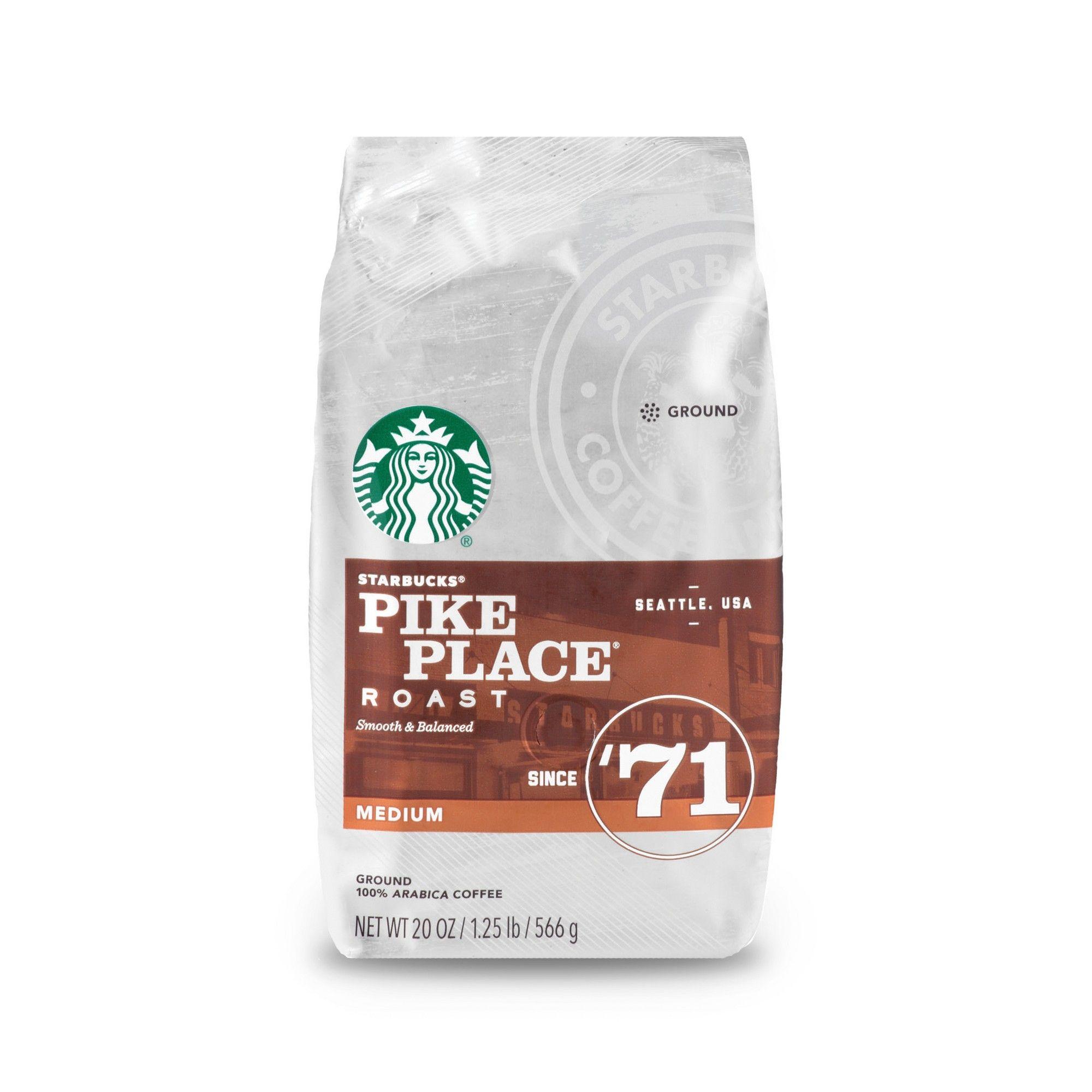 Starbucks Pike Place Roast Medium Roast Ground Coffee 20oz