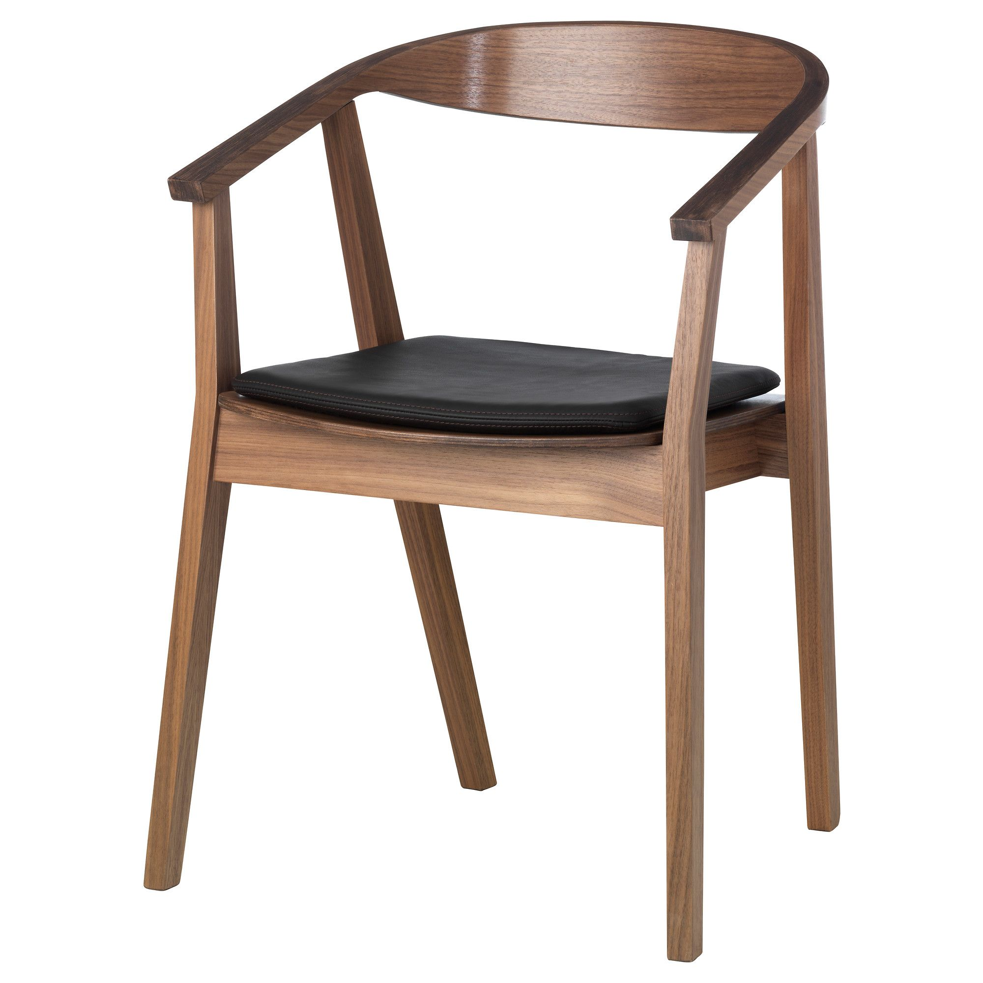 STOCKHOLM Chair with chair pad - walnut veneer/dark brown - IKEA ...