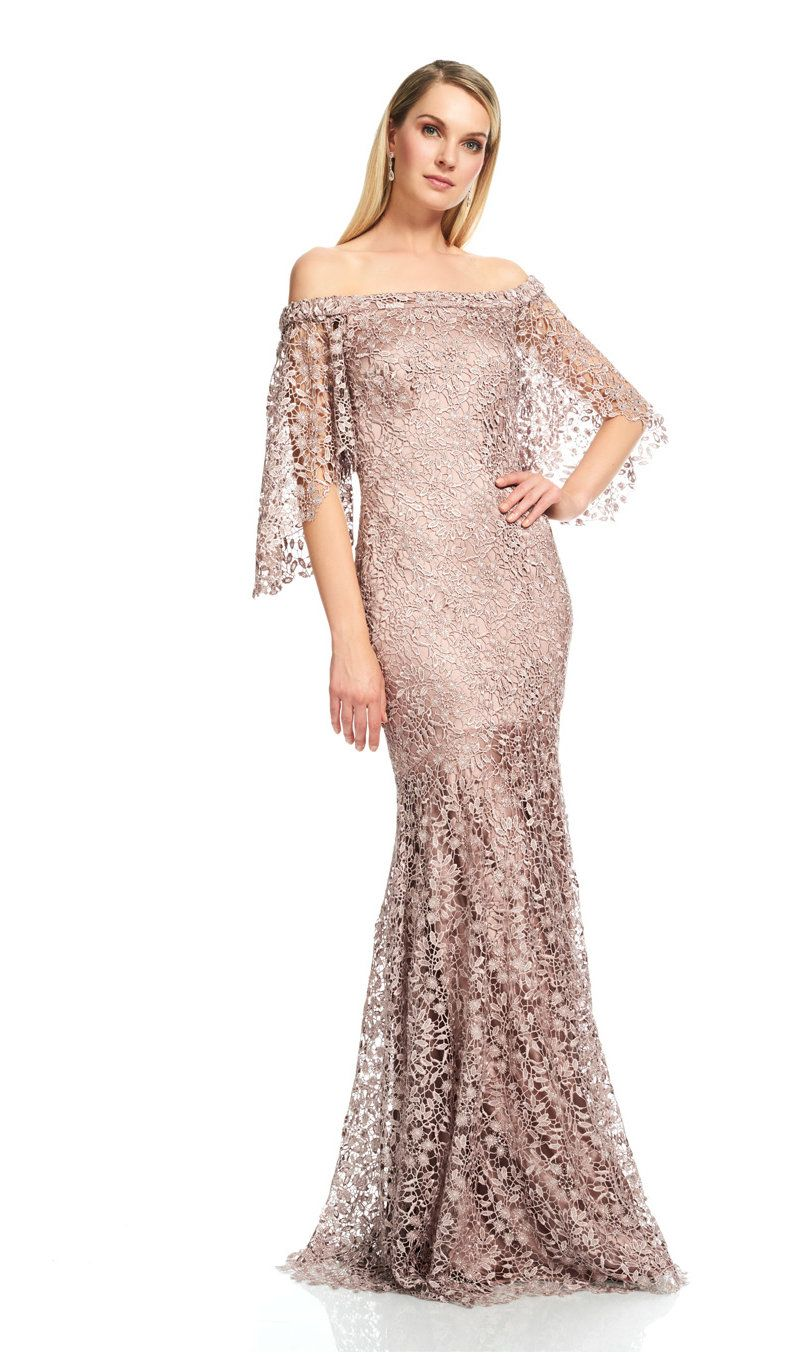THEIA COUTURE MINK OFF THE SHOULDER EVENING GOWN. #theia #cloth ...