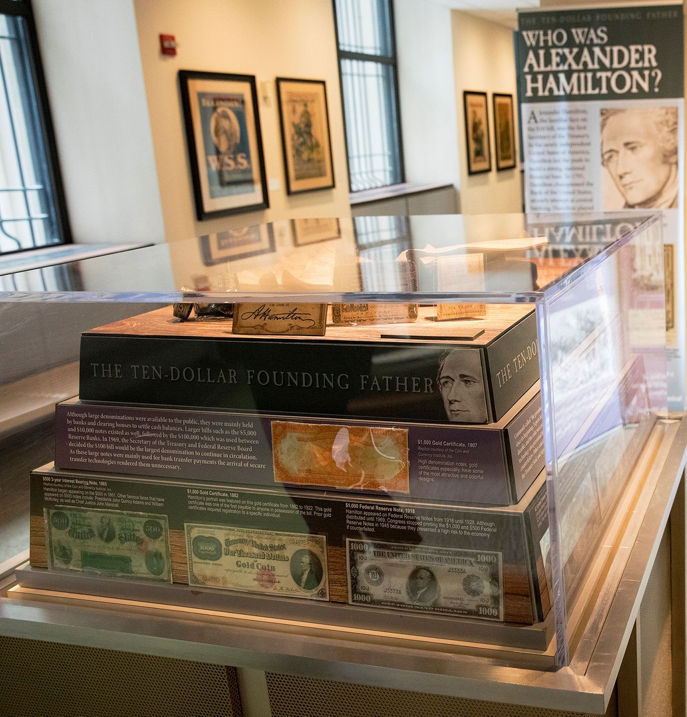 You never know what you might see at Hamilton the Exhibit at