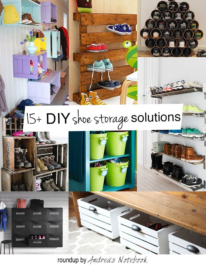 Diy Family Shoe Storage Solutions Storage And Organization Diy
