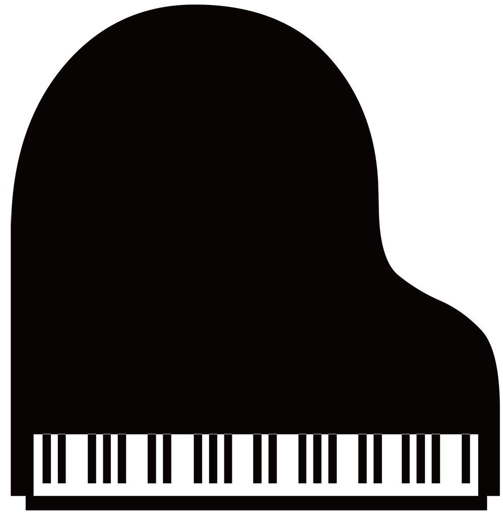 フリーイラスト素材 クリップアート ピアノ 鍵盤楽器 楽器 音楽