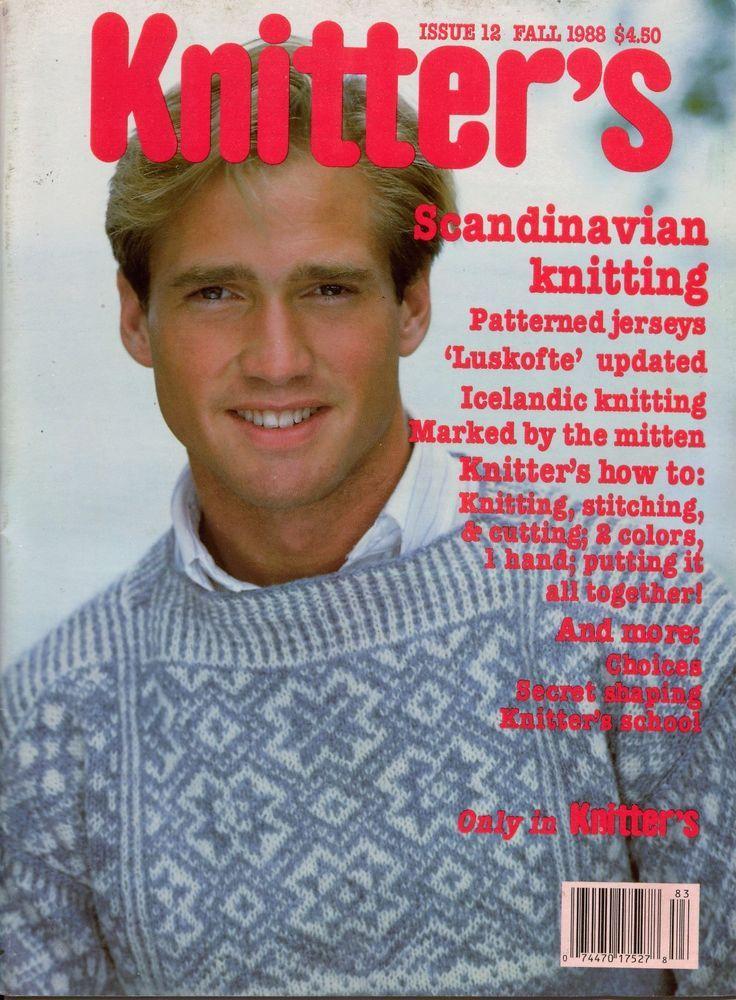 Knitters 12 Fall 1988 Scandinavian Nordic Icelandic Jersey Luskofte Sweaters #Knitters #KnittingPatterns