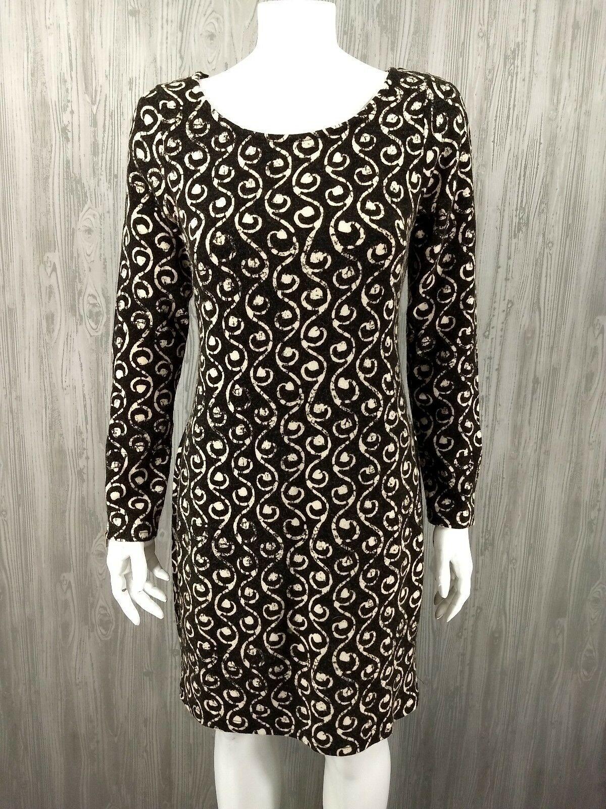 ca3408170b4 Aryeh Anthropologie Sweater Dress Women Medium Brown Print Retro Zipper - Sweater  Dresses - Shop for