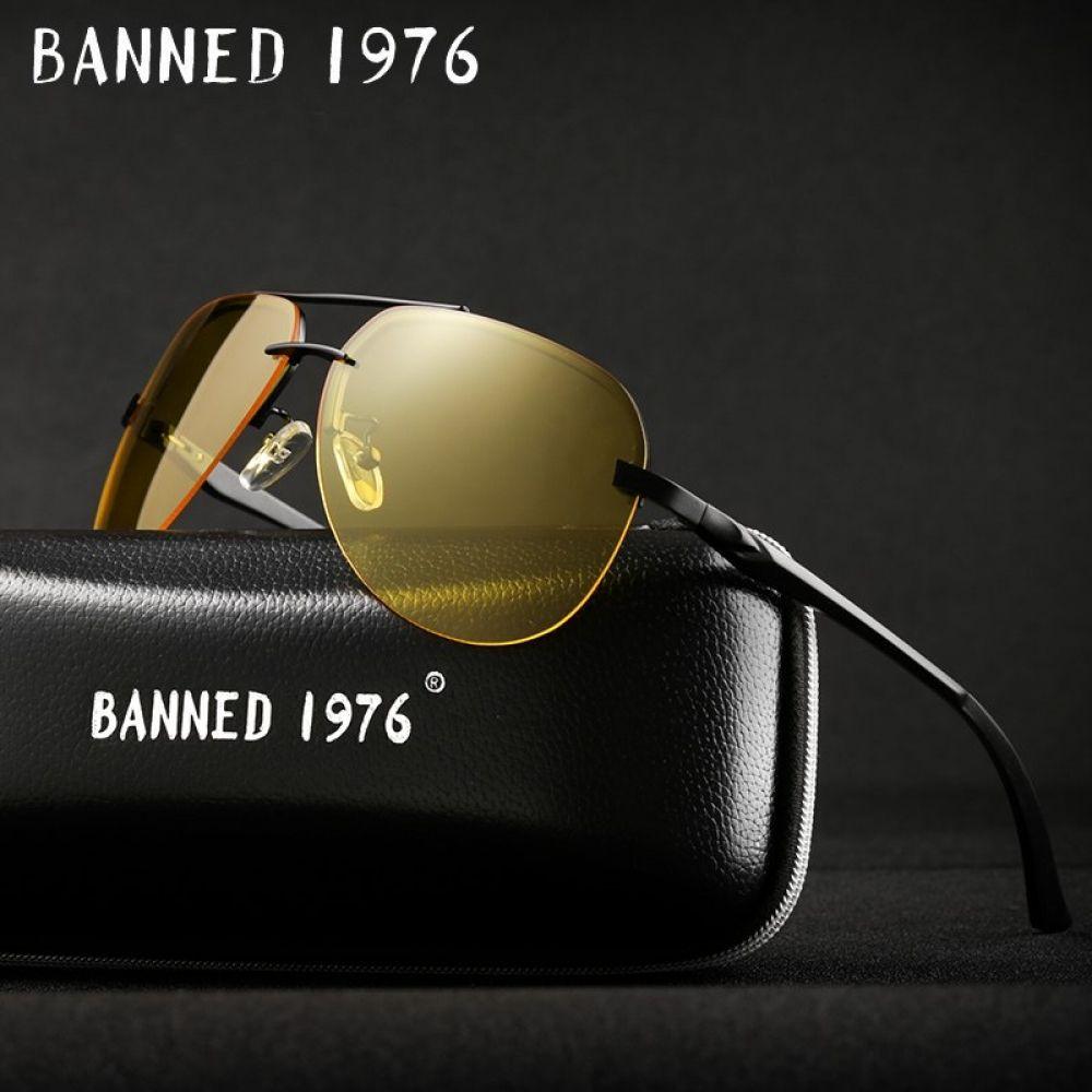 bec86aebea ... 2018 Mens Polarized Night Vision Sunglasses Men Brand Designer Yellow  Lens women Night Vision Driving Glasses Price  14.21   FREE Shipping   shoppingstar
