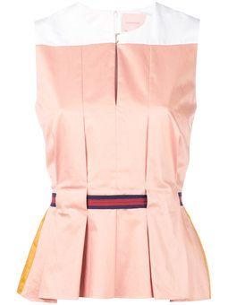 sleeveless belted blouse