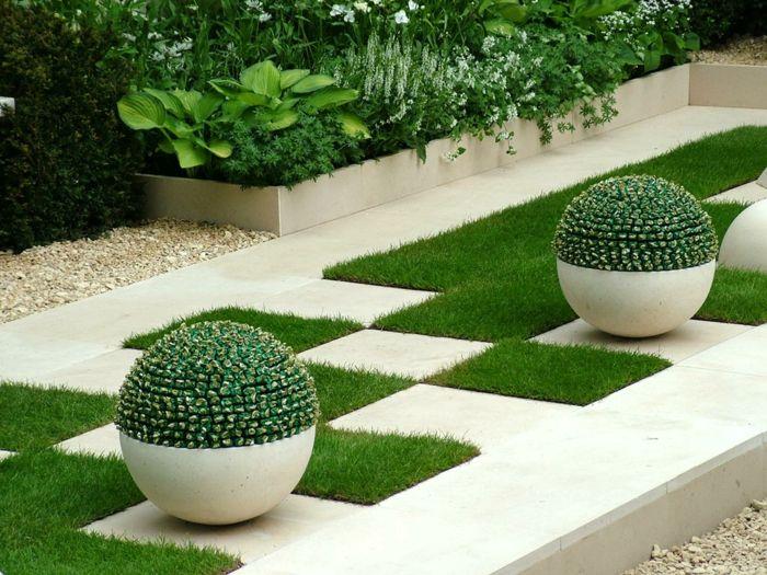 Kuhle Startseite Dekoration Moderne Garten Mit Steinplatten Verlegen #30: 136 Moderne Gartengestaltung Beispiele, Wie Sie Böden Und Gartenwege Anlegen