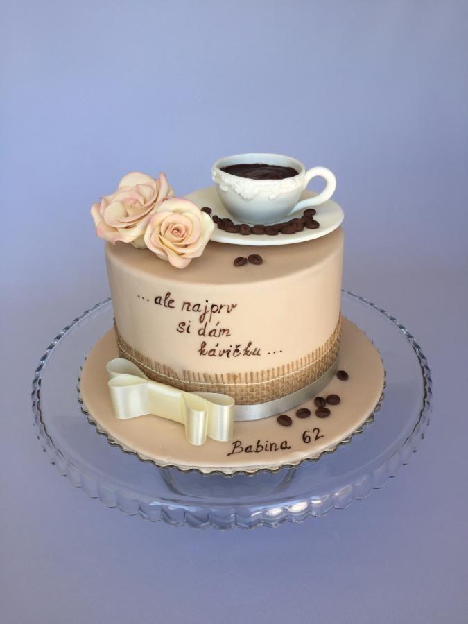 Coffee birthday cake - cake by Layla A | Fondant & Co. | Motivtorten ...