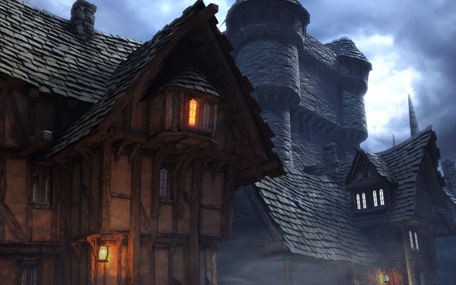Fantasy Wallpaper Dump Take A Wallpaper Leave A Wallpaper Fantasy Castle Fantasy Town Medieval