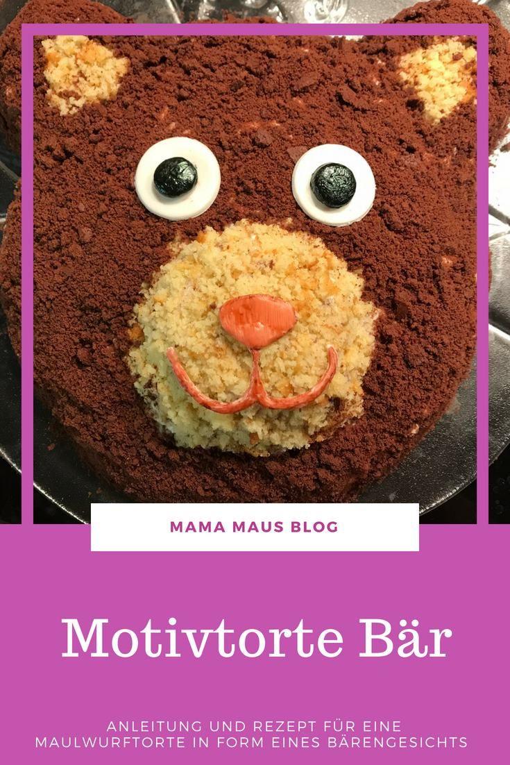 Motivtorte Bär zum Kindergeburtstag - Mama Maus Blog