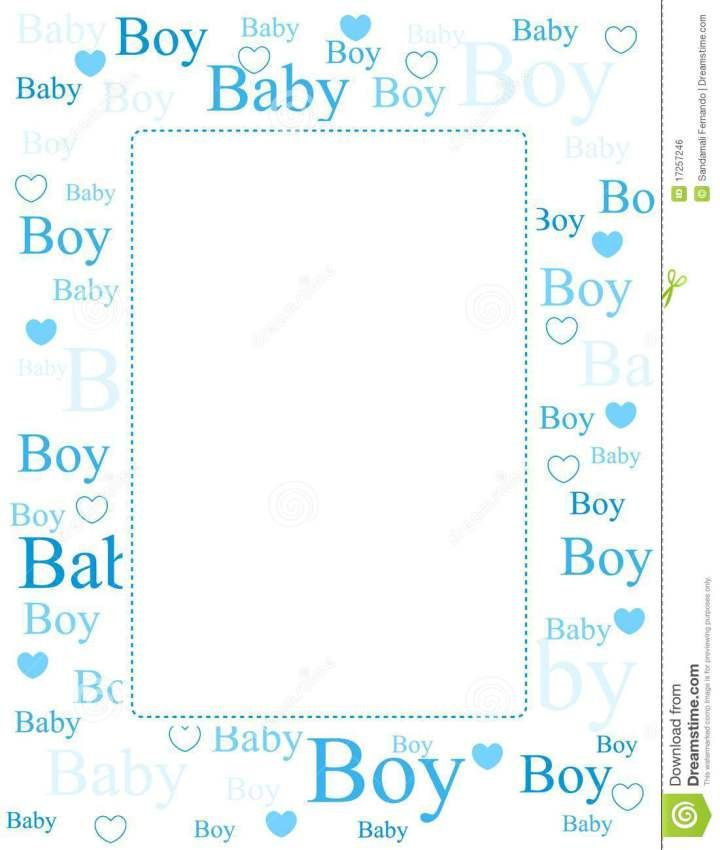 Baby Boy Borders Clip Art Boy Birthday Party Themes Printable