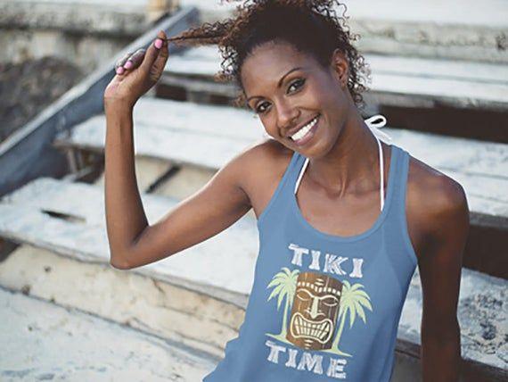 Tiki Time, Luau Party, Hawaiian Luau, Hawaiian shirt, Ladies Tank, Surfing Shirt, hawaii, hawaiian t #hawaiianluauparty