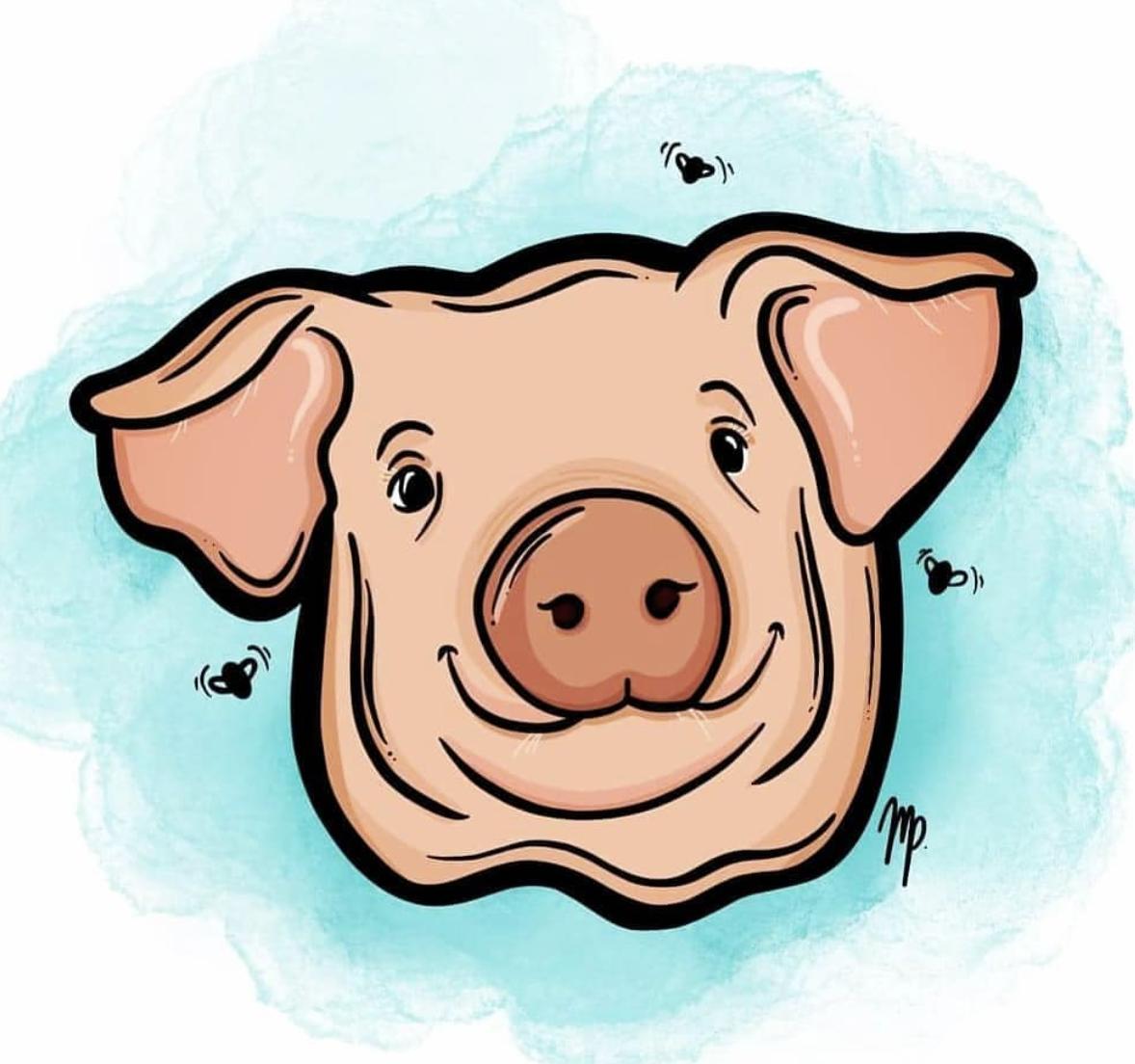 Happy Pig Illustration Pig Illustration Face Illustration Happy Pig