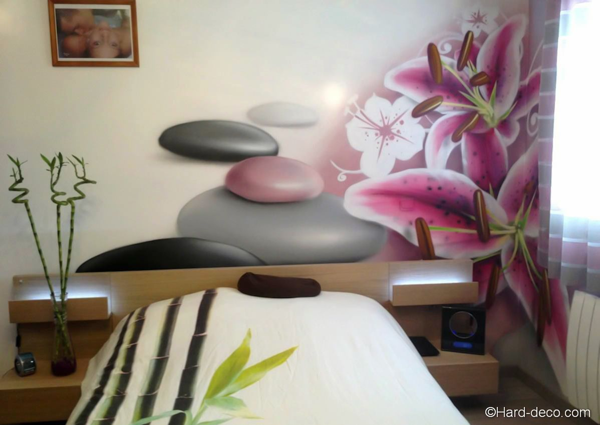 Int rieur japonais d coration deco murale chambre design for Exemple de chambre adulte