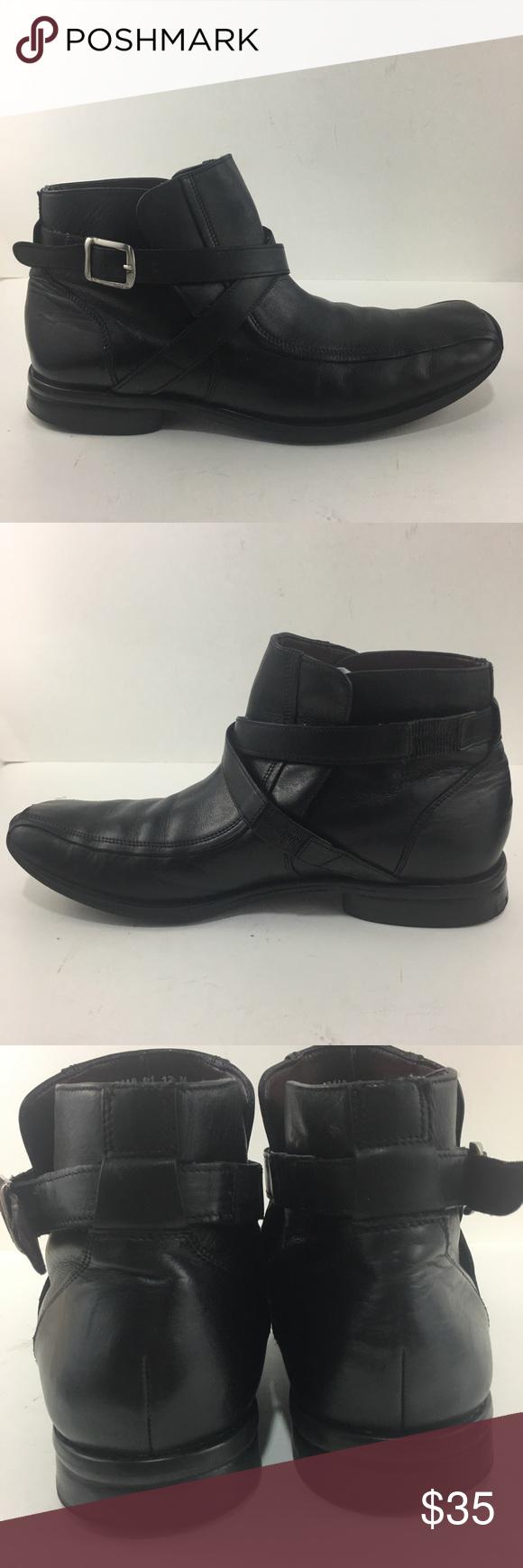 ⬇️💥 Nunn Bush Nxxt Black Leather Slip On Boots Slip On