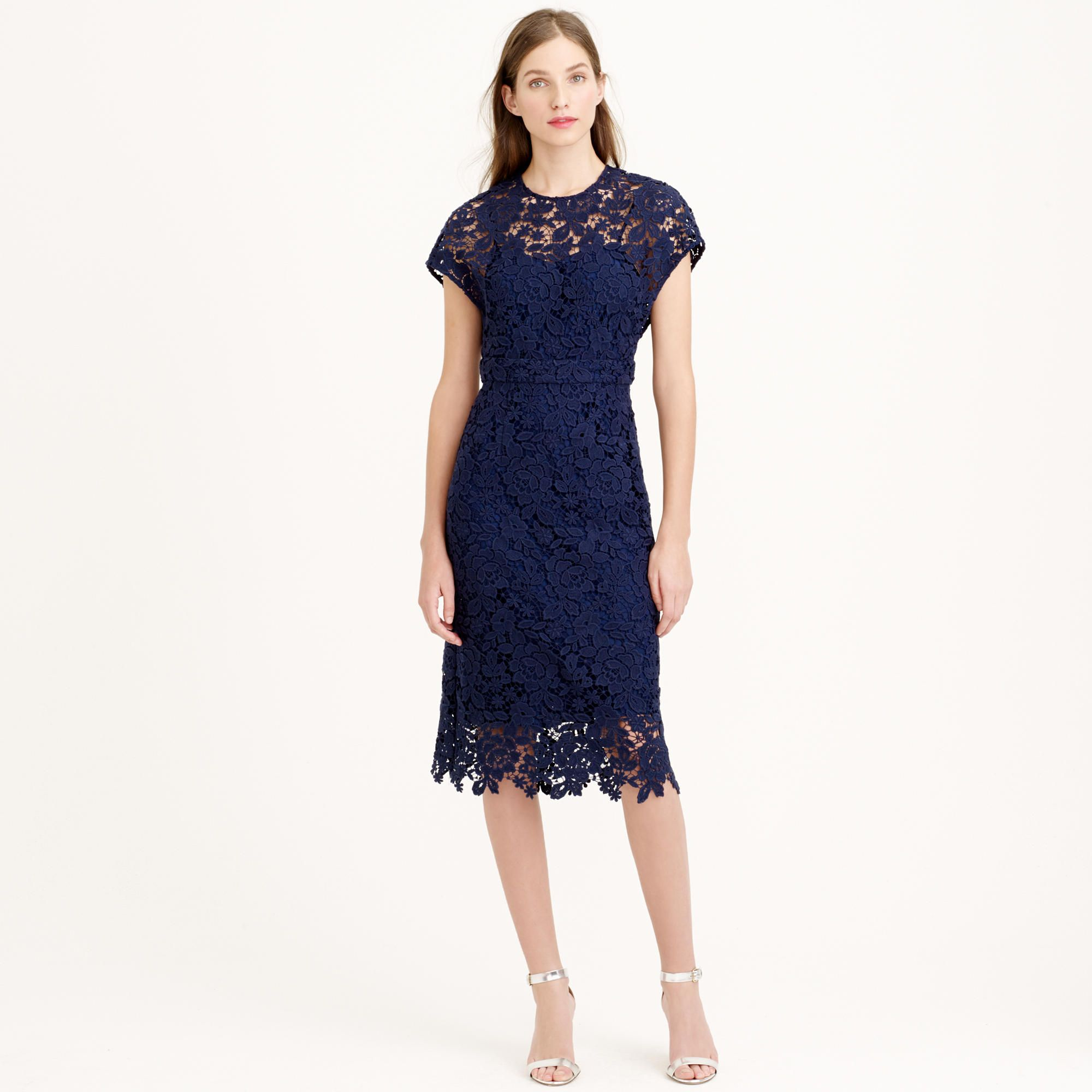 Collection Scalloped Lace Dress Tail J Crew