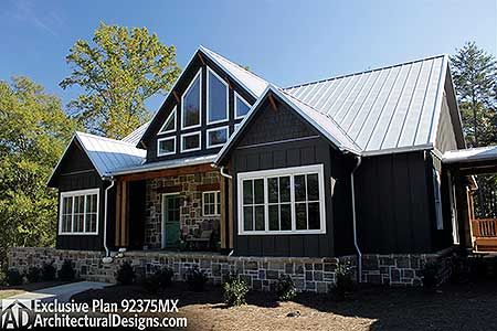 Plan 92375MX Mountain Cottage with Amazing Outdoor Spaces Walkout