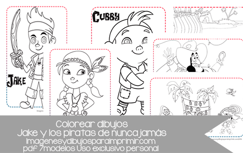 jake y los piratas en dibujos para colorear en pdf, los pdf ...
