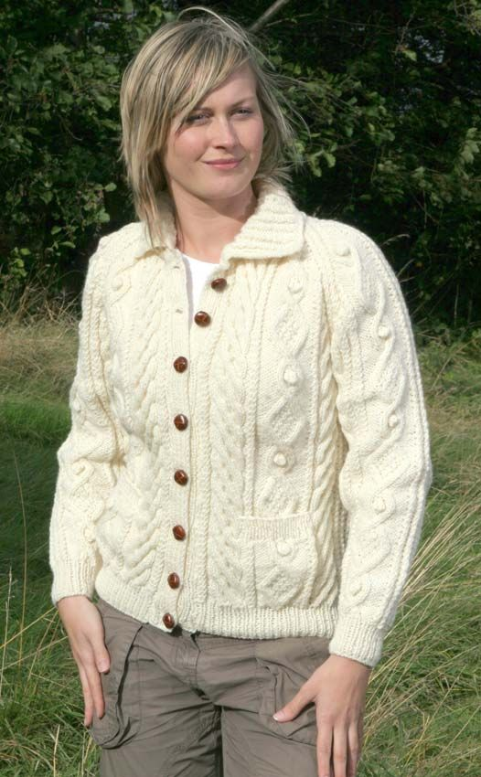 Free Aran Cardigan Knitting Patterns | You are here: Home Ladies ...
