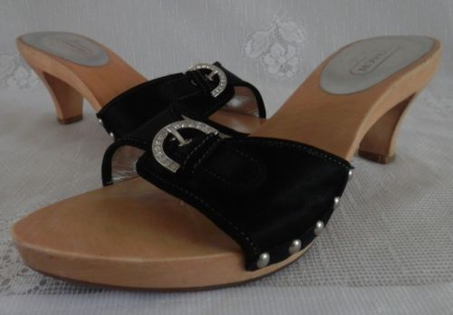 Coach Satin Slide Sandals new cheap online discount under $60 XHPWEM4
