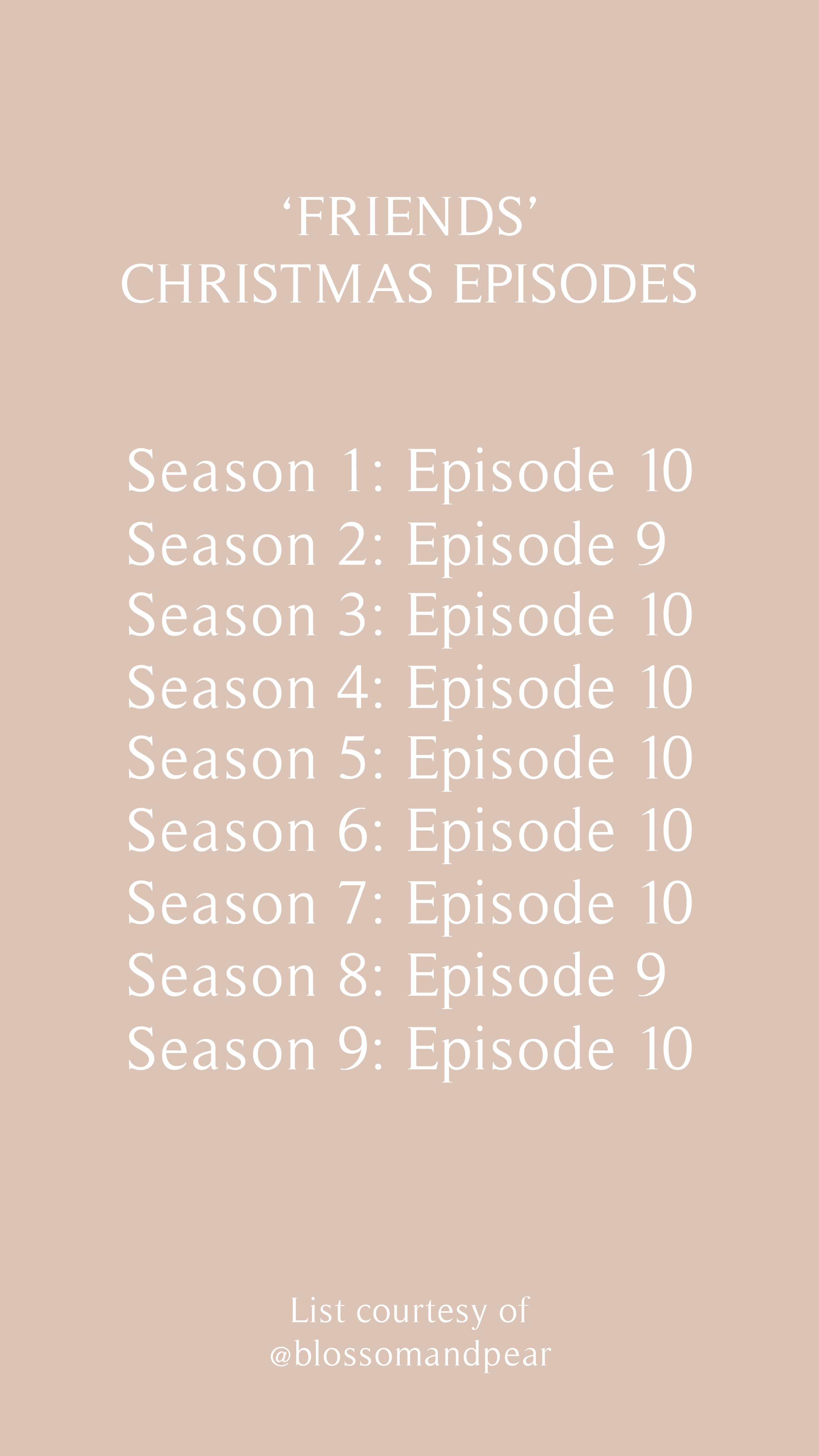 Best Christmas Episodes Of 2020 List of Friends Christmas episodes! in 2020 | Friends christmas