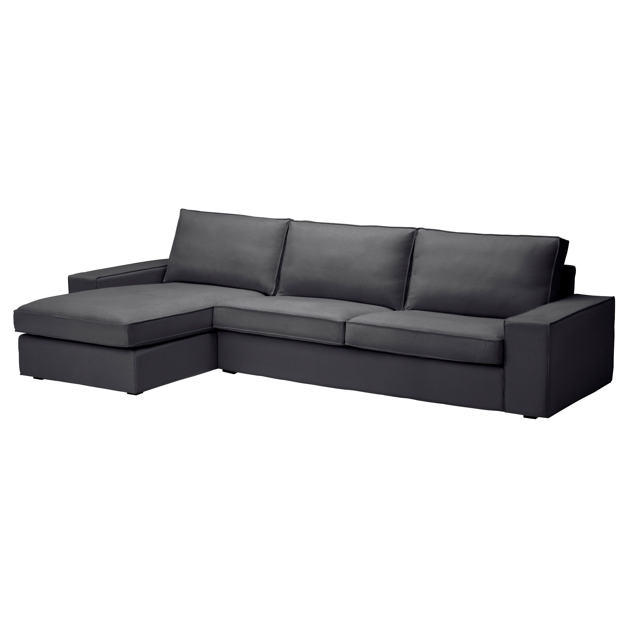 Kivik sofa and chaise lounge dansbo dark gray sofa for Ikea gray sofa
