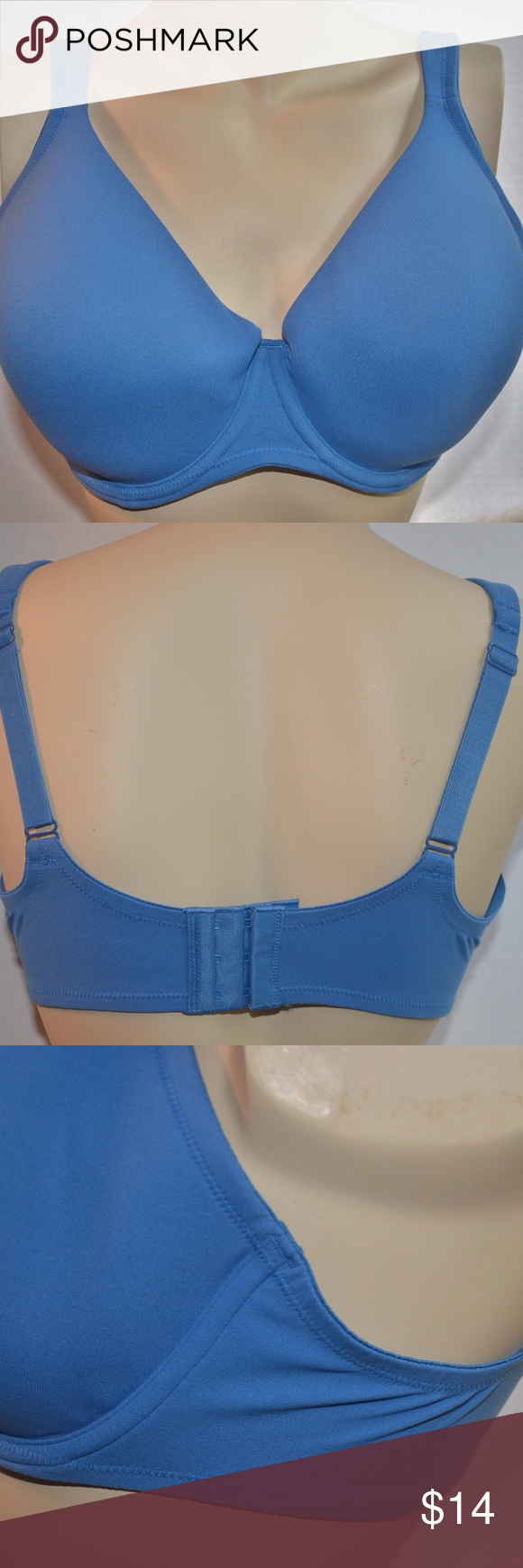 62b0800a47f053 Victoria Secret Full Coverage Blue 38B Bra NWOT Made of nylon and spandex.  This is