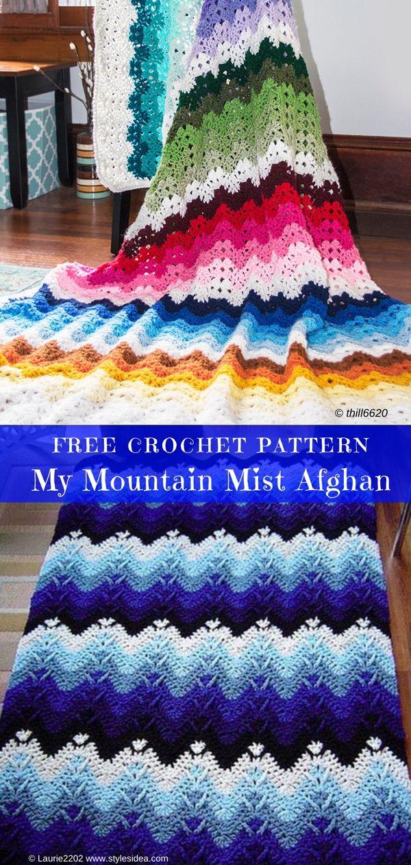 Moderno Patrón Afghan Tejer Motivo - Manta de Tejer Patrón de Ideas ...