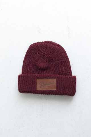 1b7a222b665 Profound Aesthetic NY Club Beanie in Burgundy  http   profoundco.com collections