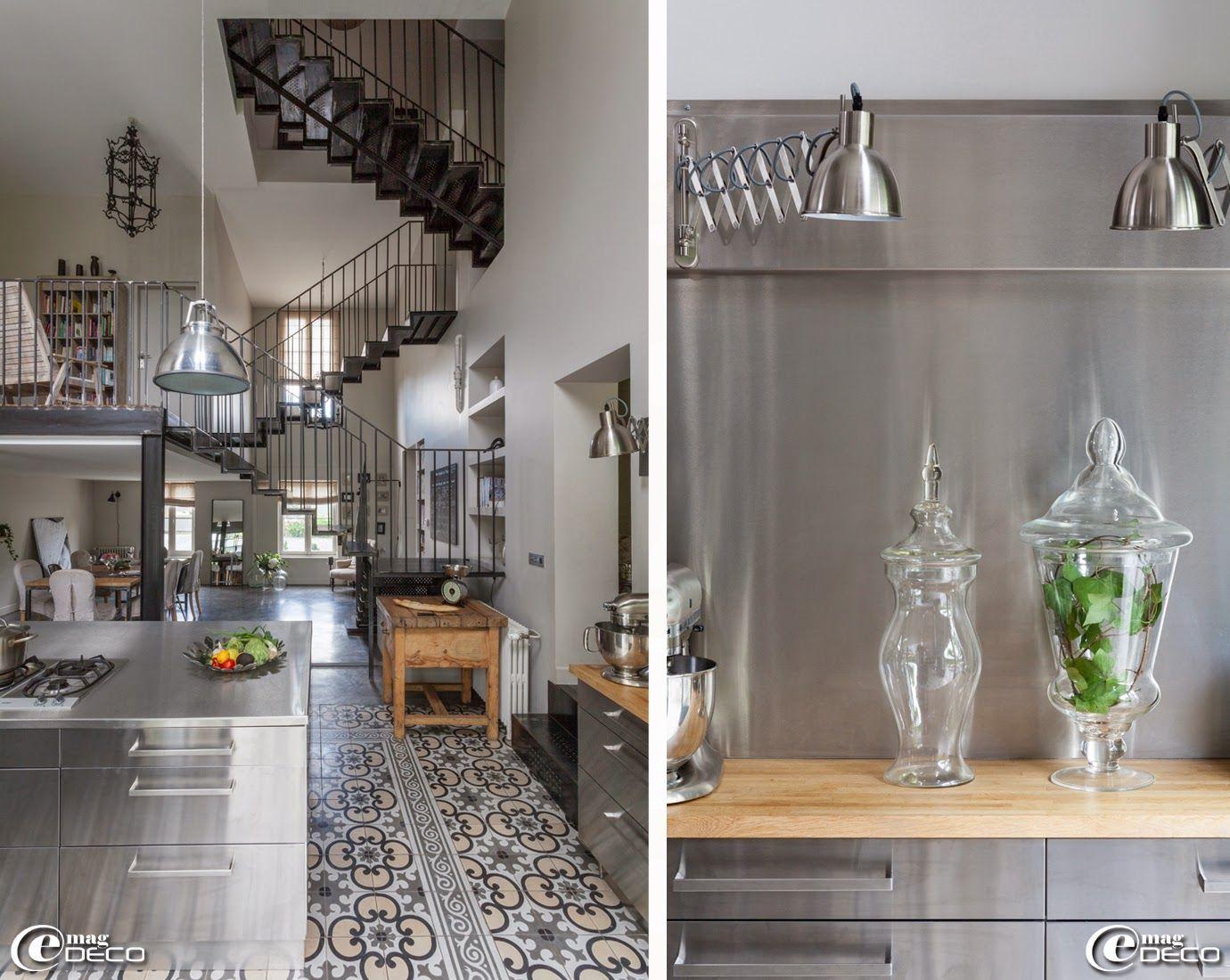 Sol en carreaux de ciment 39 boutique scherer 39 bordeaux meubles de cuisine en inox 39 ikea - Carreaux de ciment cuisine sol ...
